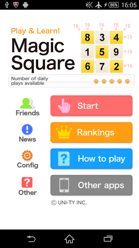 Magic square Play Learn