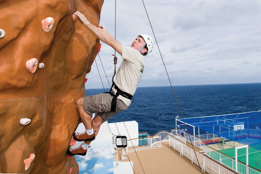 Norwegian-Pearl-Climbing-Wall - When you're ready to stretch your muscles and experience the thrill of climbing, head over to Norwegian Pearl's Climbing Wall.