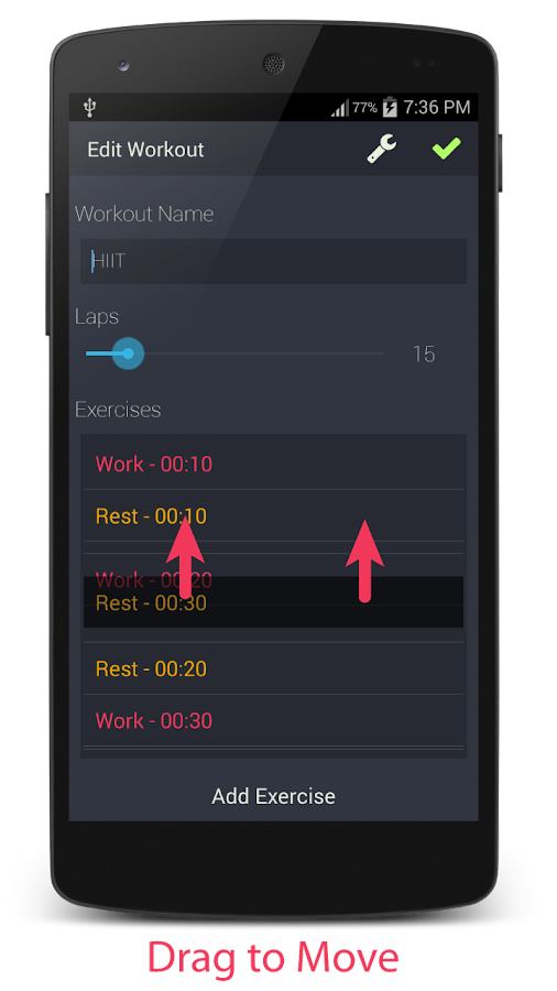 Exercise Timer- screenshot