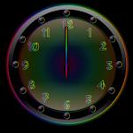 Sleek Ebony Rain Clock Widget