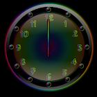 Sleek Ebony Rain Clock Widget icon