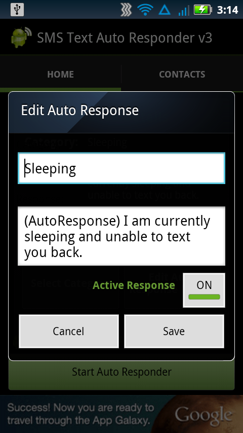 SMS Text Auto Responder FREE - screenshot