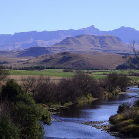 'There is great vigour in the waters that come down from the snows of the Misty Mountains.' by Sheldon Strydom - Landscapes Mountains & Hills