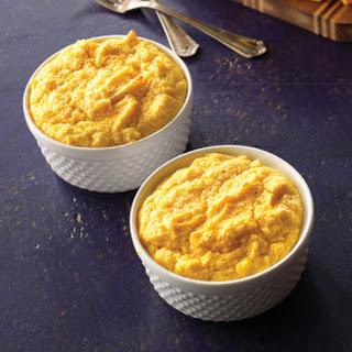 Butternut Squash Soufflés with Leeks & Gruyère