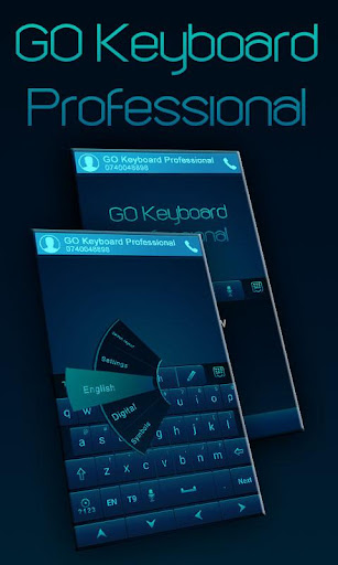 GO Keyboard Professional Blue