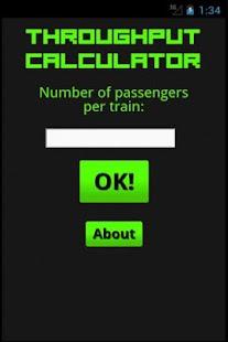 Throughput Calculator - screenshot thumbnail