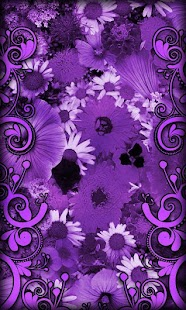 Purple Flowers Live Wallpaper - screenshot thumbnail