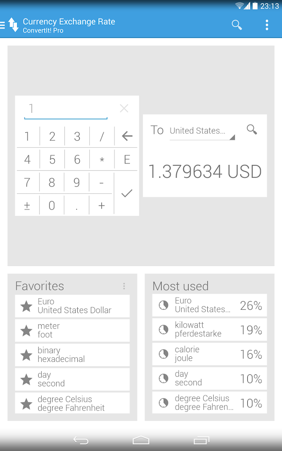 ConvertIt! Pro Unit Converter - screenshot