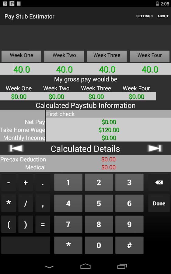 paystub calculator free