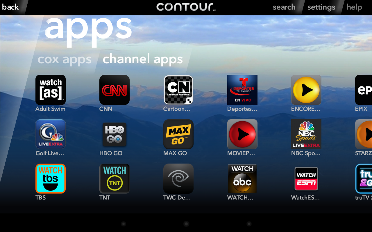 Cox Contour- screenshot