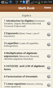 Math Book- screenshot thumbnail