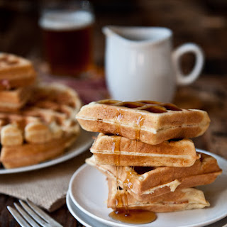 Maple Bacon Beer Waffles.