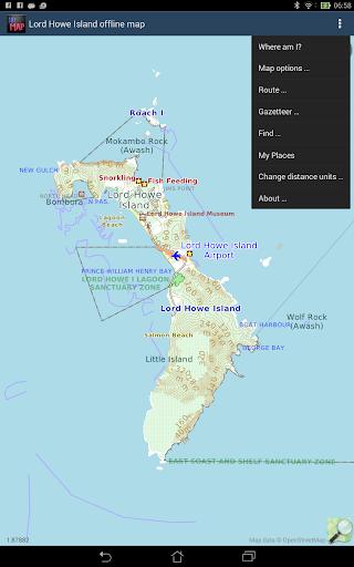 Lord Howe Island offline map