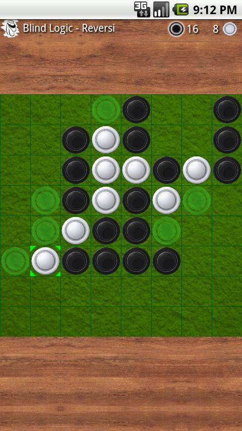 Reversi- screenshot