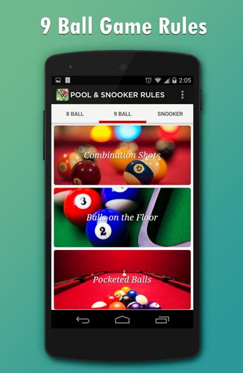 Pool & Snooker Rules- screenshot