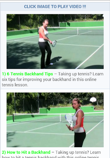 Tennis Lesson Tricks
