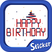 Birthday Sticker TextCutie