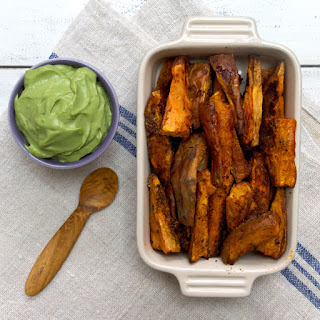 Baked Sweet Potato Wedges with Rosemary, Cinnamon & Paprika.