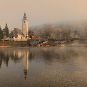 foggy morning by Anže Papler - Landscapes Waterscapes