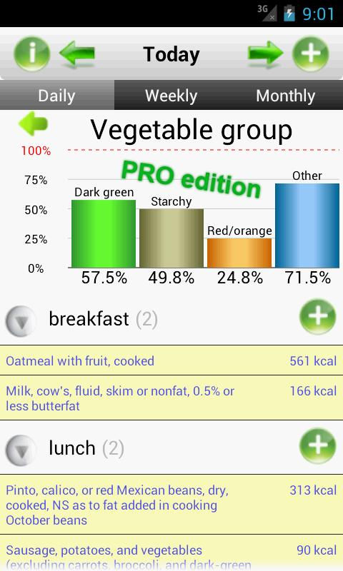 SmartFoodTracker - Food Logger - screenshot