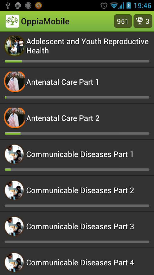 OppiaMobile Learning- screenshot