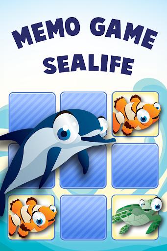 Memo Game Sealife Cartoon