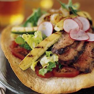 Grilled Flank Steak Tostada.