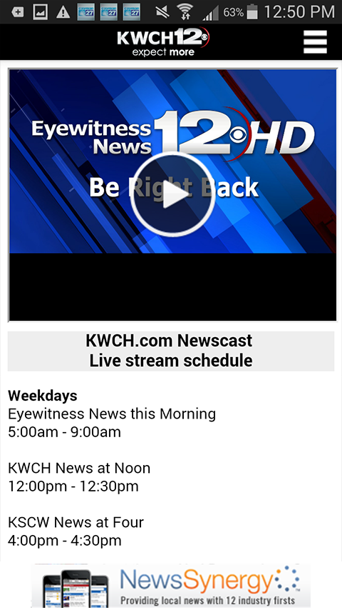 KWCH 12 - screenshot