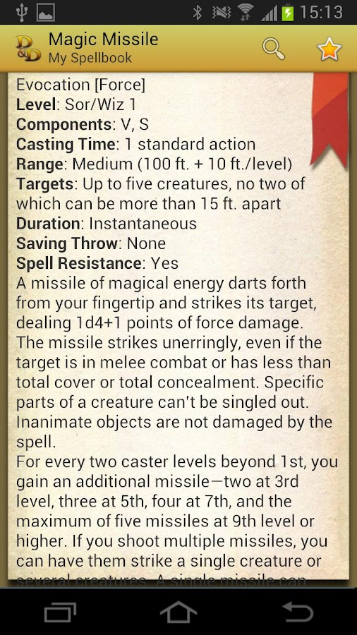 Spellbook - D&D 3.5 - screenshot