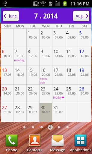 Lunar Calendar Widget