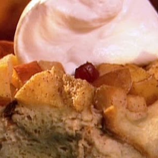 Apple Cranberry Bread Pudding Recipe