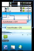 Screenshot of AutoRotate On/Off Toggle