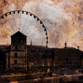 city on fire by Axel K. Böttcher - Digital Art Places