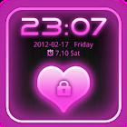 Go Locker Theme Pink Glow Pro icon