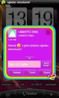 Screenshot of GO SMS Rainbow Theme Free