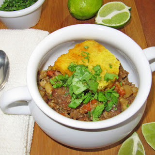 Crock Pot Pork Posole with Cornbread Topping