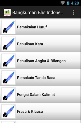 Rangkuman Bahasa Indonesia SMP