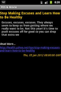 RSS Reader and Movie Showtimes- screenshot thumbnail