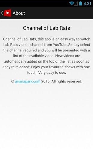 玩免費媒體與影片APP|下載Channel of Lab Rats app不用錢|硬是要APP