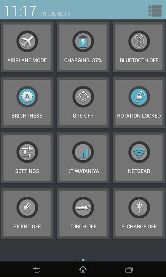 CM10.1 - Flatron Blue Theme - screenshot