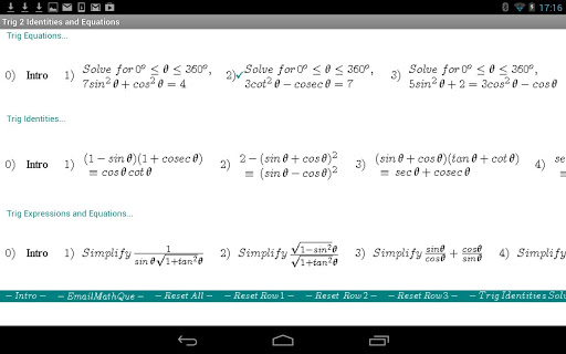Trig Equations Identities