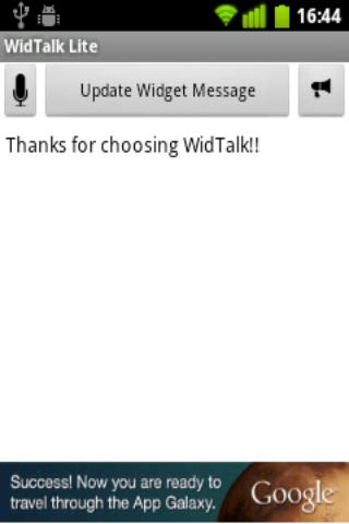 WidTalk Text To Speech Widget - screenshot