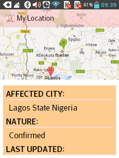 Ebola Prevention App- screenshot