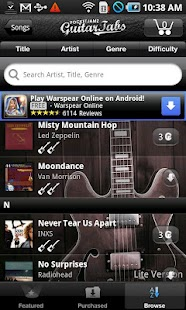 Pocket Jamz Guitar Tabs Lite- screenshot thumbnail