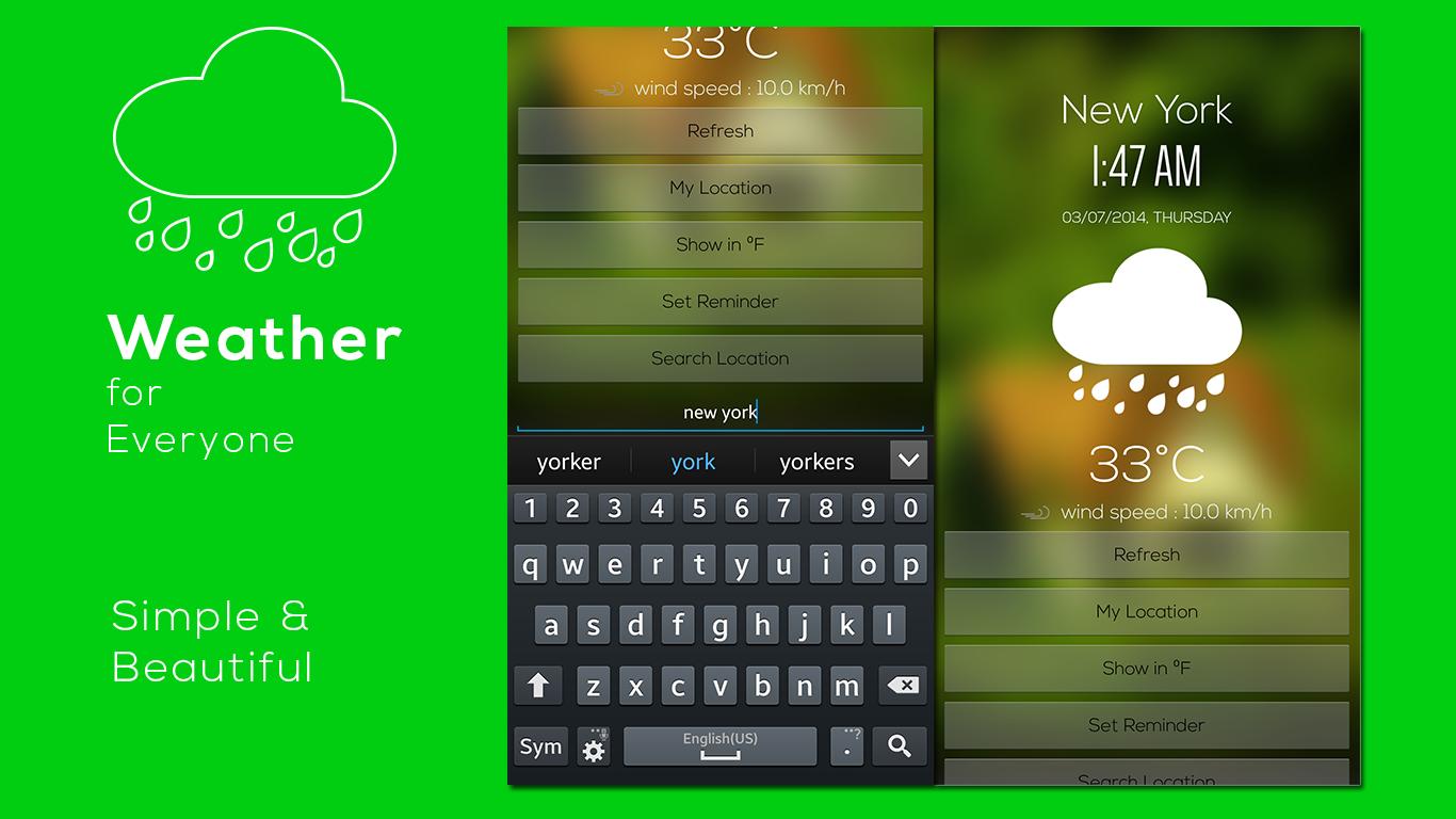 Weather & Clock - screenshot