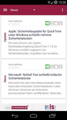 securityNews - screenshot