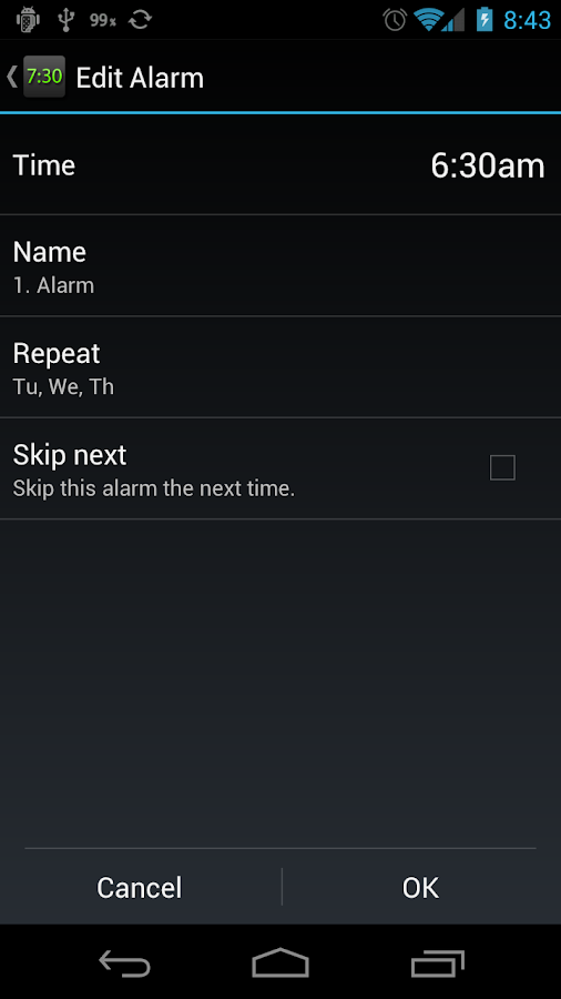 Night Clock (Alarm Clock) - screenshot