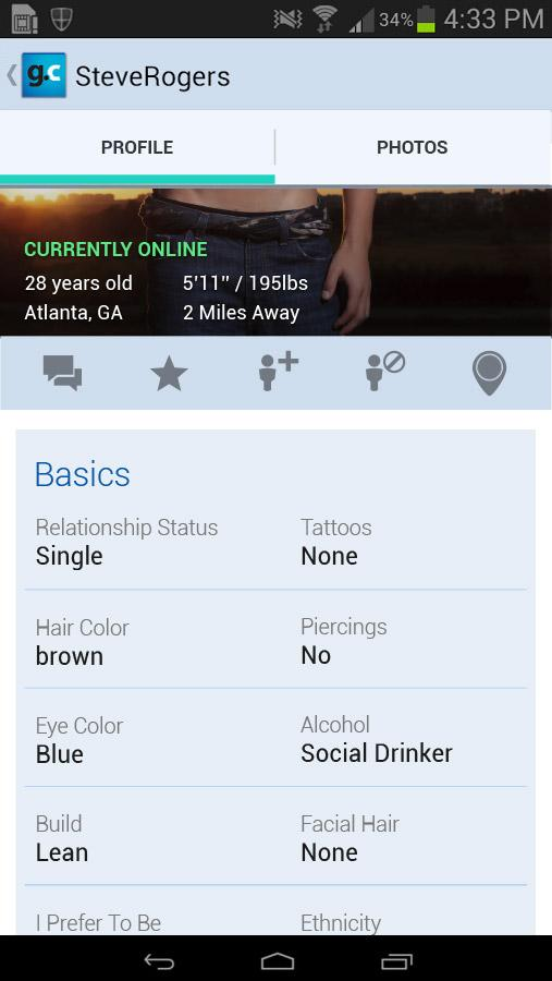 Gay.com same-sex chat & dating- screenshot