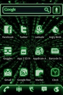 ADW Theme Green Glow Code Pro - screenshot thumbnail