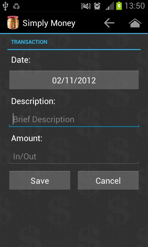 SimplyMoney - Accounts Manager - screenshot
